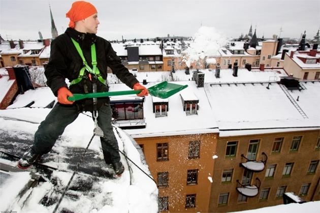 Takskottning Snö Stockholm